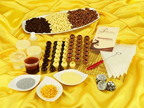 Pralinen-Set zum Start in die Pralinenproduktion im Geschenkkarton