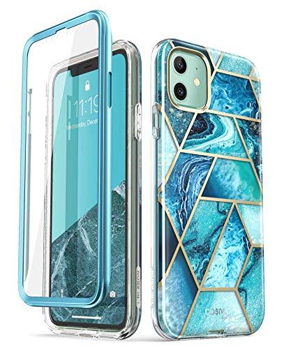 i-Blason Cover iPhone 11 360 Gradi Custodia Brillantini con Protezione per Display Integrata [Cosmo] Glitter Case per iPhone 11 2019, Oceano