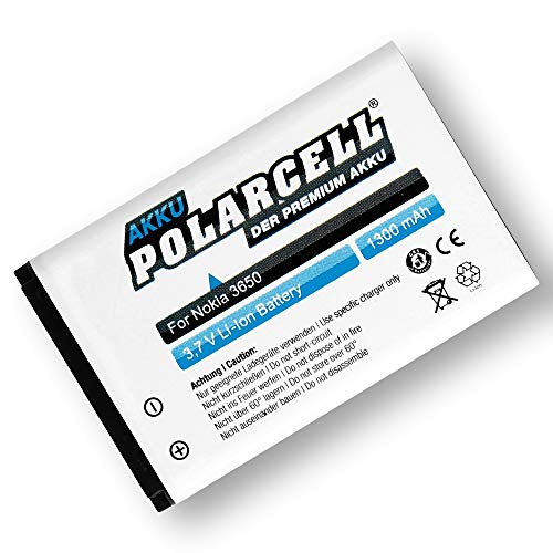 PolarCell BL-5C Akku für viele Nokia Modelle   3650 6230 Asha 205 E50 N70   1300mAh starker Ersatz-Akku   28% mehr Kapazität als der Original-Akku   selektierte A+ Qualitätszellen   2730/3110 Classic