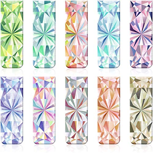 10 Pieces Magnetic Bookmarks Magnet Page Markers Kaleidoscope Bookmarks Clips for Students Reading, Planners, Journals, Books