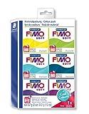 Staedtler FIMO Soft, Assortiment de 6 pains de pâte FIMO, Couleurs froides, 8023 24