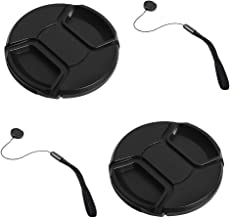 GAOAG 2 Pack 55mm Center Pinch Lens Cap for Nikon Canon Sony DSLR Camera Compatible with Nikon D3400 D3500 D5500 D5600 D7500,Song FE 35mm f1.8/FE 28-70mm f3.5-5.6 OSS and Any 55mm Thread Lenses