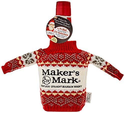 Maker's Mark Bourbon Whisky, mit weihnachtlicher Geschenkverpackung, 45% Vol, 1 x 0,7l