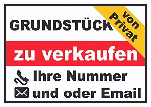 HB-Druck Grundstück Verkaufsschild von Privat Schild A2 (420x594mm)