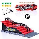 Sipobuy DIY Assembly Mini Finger Skateboard Deck Truck Skate Park Board con Conjuntos de Accesorios de rampa (Escena F)