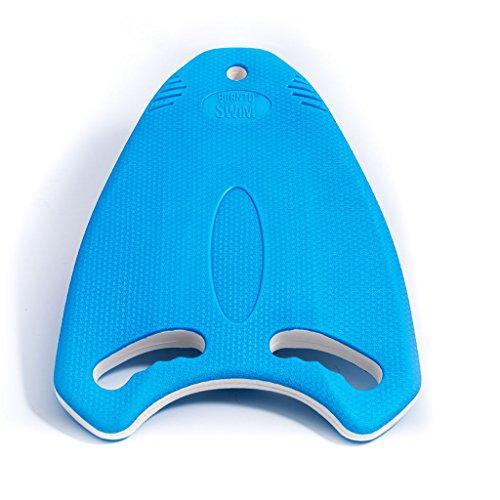BornToSwim Robust Multi-Schwimmbrett Trainingshilfe Kickboard, Blau/Weiß, 40 x 30 x 3 cm