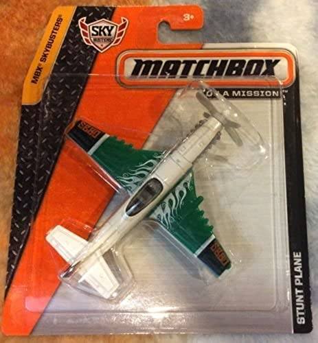 2014 Matchbox MBX Sky Busters STUNT PLANE vert and blanc by Sky Busters