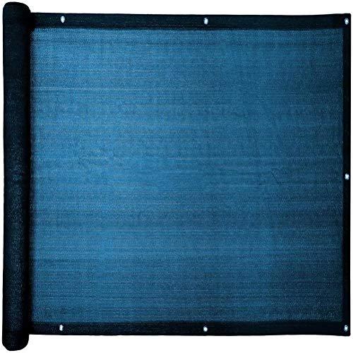 Losxy Sichtschutz für Den Balkon 80x700cm, Blickdichte Privatsphäre Pflegeleichtes Atmungsaktiv, Geländer Sichtschutz mit ösen, Nylon Kabelbinder und Kordel für den Gartenzaun Balkongeländer - Blau