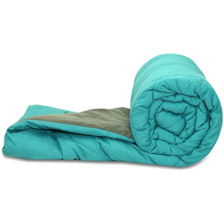 "Livpure All Weather Comforter - Microfiber Filling, Reversible, Size Single 60"" x 90"" (Single, Teal & Grey)"