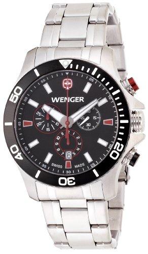 Wenger Herren-Armbanduhr XL Seaforce Chronograph Quarz Edelstahl 01.0643.101