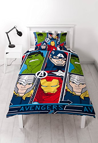 Marvel Avengers 'Tech' Single Duvet Set - Repeat Print Design