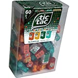 TIC TAC Spender Box with 60 Mini Boxes (Each 3.9 Grams) Liliput, Flavours : Orange, Mint, ...