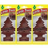 LITTLE TREES LTZ016 Air Freshener, Leather, Set of 3