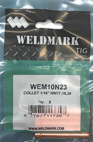 Weldmark TIG Collet #17, 18, 26 Torch Pk = 5 (10N23-1/16')