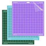 DOOHALO Cutting Mat for Cricut Maker and Cricut Explore Air2/One Smart Cutting Machine Expression 12 X 12 inch 3 Pack Replacement Variety Adhesive Vinyl Mats Lightgrip Standardgrip Stronggrip