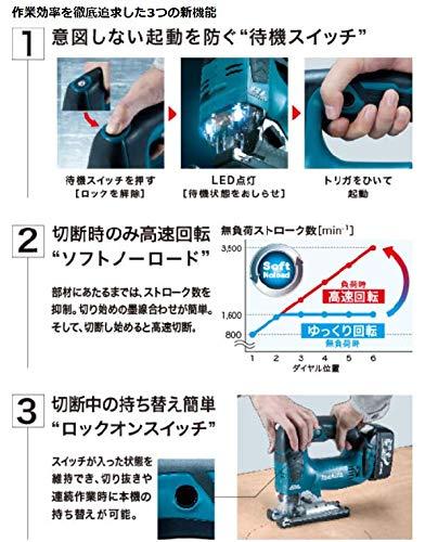 マキタ(Makita)充電式ジグソー(バッテリー・充電器・ケース付)JV182DRF