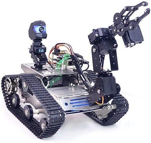 de moda Madat WiFi azultooth4.2 azultooth4.2 azultooth4.2 Kit de Robot robótico de Video Inteligente para Raspberry Pi 3B + - negro A1 Standard Claw Arm  comprar marca