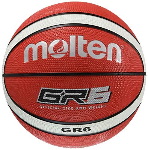 molten Basketball, Rot/Weiß, 6