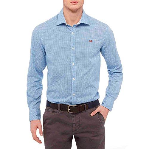 Napapijri Garoh Camisa Manga Larga, Multicolor (Check C26), Large para Hombre