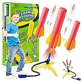 FORMIZON Rakete Spielzeug, Air Rocket Raketenspiel für Kinder, Raketentwerfer Outdoor Spiele mit 3 Schaumraketen, Kinder Garten Spielzeug Daraußen, Geschenke-Familienparty für Studenten Junge Mädchen