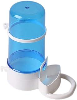 青と白 小動物 自動給餌器 エサ入れ 給水器 水やり 自動フィーダ 食器 小鳥 モルモット ハムスター 小動物用 ゲージに設置