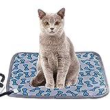 Tivivose 45x45cm Almohadilla de calefacción eléctrica Manta Materia Materia Materia Cat Cat Dog Winter Warmer Pad Principal Silla de Oficina Silla calentada Matón 110V (Color : Bone Pattern)
