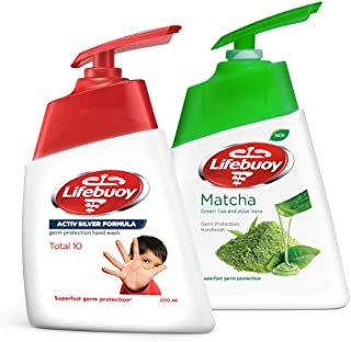 Lifebuoy Anti Bacterial Hand Wash Total 10, 200ml - (Pack of 2)+ Lifebuoy Anti Bacterial Hand Wash, 180ml FREE