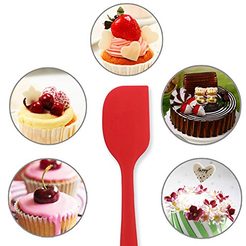 Silicone Spatula Set - Yamoo 3 Piece Heat-Resistant Spatulas & Baking Spoon, Safe Soft and Non-stick Flexible Silicone Rubber Spatulas Cooking Utensils - Strong Stainless Steel Core Kitchen Utensils
