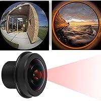 【𝐍𝐞𝒘 𝐘𝐞𝐚𝐫𝐬 𝐆𝐢𝐟𝐭𝐬】セキュリティ0.8x0.7in標準M12スレッド180°広角ホームセキュリティカメラ、固定MP HD魚眼レンズ、Lenホーム交換カメラ用