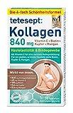 tetesept Kollagen 840 mg – Nahrungsergänzungsmittel mit Kollagen, Vitamin C, Biotin, Kupfer & Mangan – Für ein glattes, schönes Hautbild dank Biotin, Kupfer und Mangan – 1 x 30 Tabletten