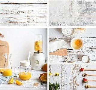 Selens 2 in 1 Hintergrund mit Holz  und Wandtextur aus Zement, flach, für Lebensmittel, Schmuck, Kosmetik, kleine Produkte, Fotografie Requisiten