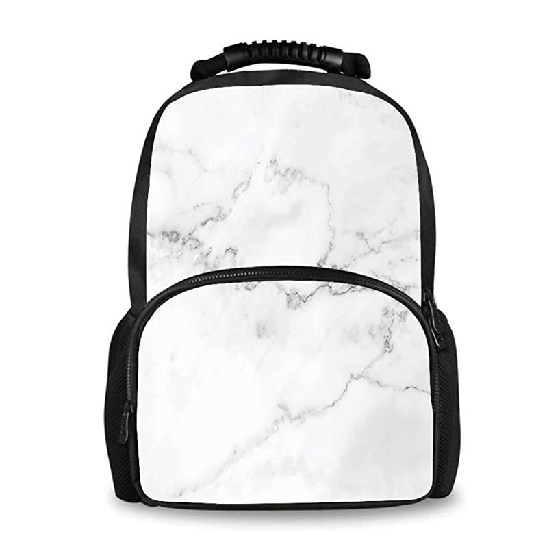 Marble Adorable School Bag,Artsy Mineral Nature Surface Motif Organic Rock Formation Models Industrial Print for Boys,12
