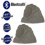 Theater Solutions B63GR Fully Wireless 200 Watt Rechargeable Battery Bluetooth 6.5' Rock Speaker...