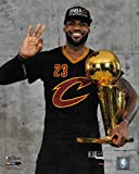 LeBron James Cleveland Cavaliers Cavs holding Trophy 8'x10' photo