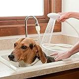 Soffione doccia portatile, multifunzione, per cani e gatti, soffione doccia a spruzzo, colino per vasca da bagno, lavandino per lavare i capelli dell'animale domestico