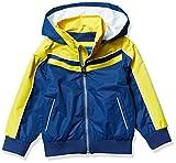 Perry Ellis Little Boys Hooded Bomber Jacket with Fleece Lining, Navy, 5