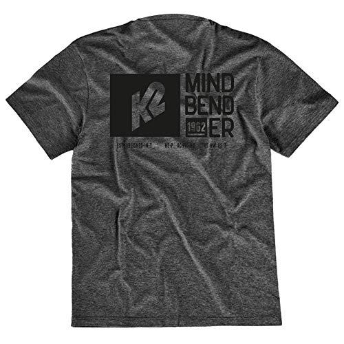 K2 Skis Unisex – Erwachsene Mindbender Tee Shirt, Black, L, 20D2300.1.1 Adulte-Mixte, Noir, L