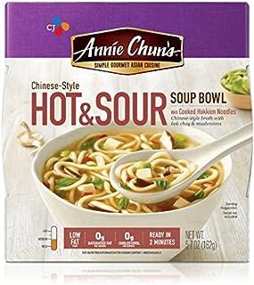 Annie Chun's Hot & Sour Soup Noodle Bowl, 5.7-Ounce Bowls (Pack of 6)