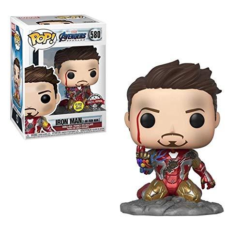 USA OFFICIAL Avengers Endgame Funko Pop 580 I AM Iron Man Special Edition Glow GITD 9 CM