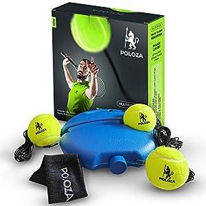 POLOZA Professional Tennis Trainer – Tennis Trainer Rebound Ball – Tennis Equipment for Self-Practice – Portable Tennis…