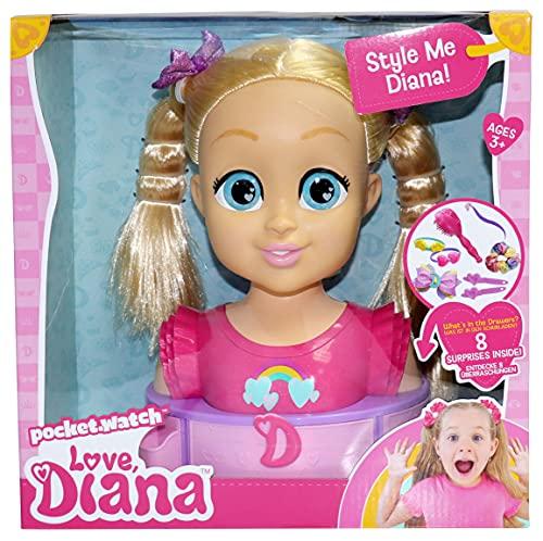Love, Diana 918984.002 Deluxe Head Spielset mit Haarstyling Zubehör
