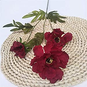 TRRT Fake Plants Artificial Hibiscus Bouquet Flower Plant, Hibiscus Family Living Room Hotel Garden Christmas Decoration Wedding Holiday Flower Fake Flower (Color : Purple Pink)