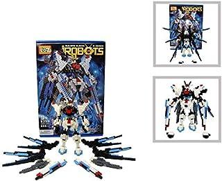 Loz Diamond Building Block Series White Blue Gundam Style Robot Warrior