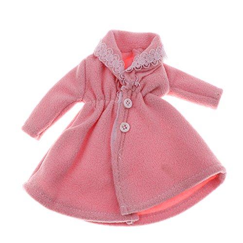 Puppenkleidung Pelzigen Mantel Für Puppen - Rosa