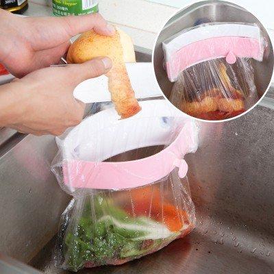 Generic Creative fregadero Desodorante para basura accesorio de soporte de bolsa de...