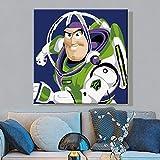 Dibujo sobre lienzo bricolaje Robot de dibujos animados DIY pintura al óleo Lienzo por números con pintura acrílica para casa pintura al óleo regalo para adultos o niños40x50cm (Sinmarco)