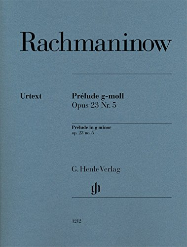 PRELUDE SOL MIN.OP23/5 --- PIANO (English, German and French Edition) (Rachmaninoff Op 23 No 5 Sheet Music)