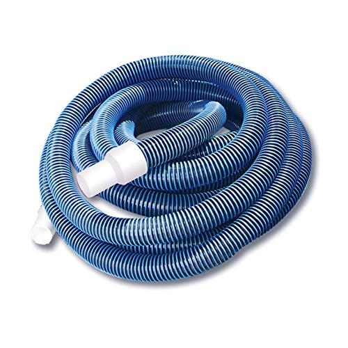 Pool Central 24'Blau Spirale Wunde Eva Vakuum Schlauch mit Weiß Manschetten