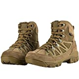 FREE SOLDIER 6 Inch Outdoor Breathable Suedu Leather Hiking Ankle Boots Tactical Military Shoes(Coyote Brown 10)
