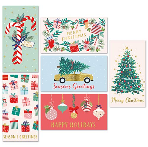 Sweetzer & Orange Christmas Money Cards with Envelopes for Teens and Adults. 24 Christmas Cards - Thick Note Cards and Envelopes, 300gsm Greeting Cards With Envelopes (120gsm). Xmas Gift Card Holder.